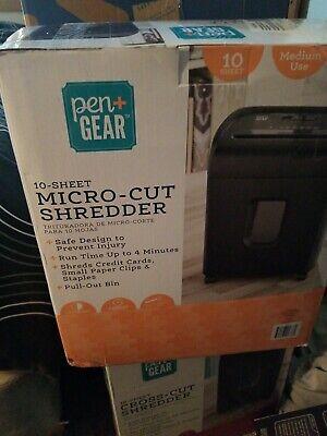 Pen Gear 10-sheet Micro Cut Paper Shredder Model C224-a