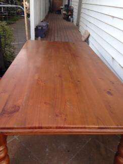 8 seater wood dining set Freemans Reach Hawkesbury Area Preview