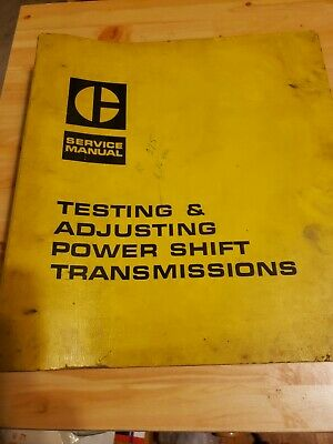 CATERPILLAR TESTING AND ADJUSTING POWER SHIFT TRANSMISSIONS SERVICE MANUAL