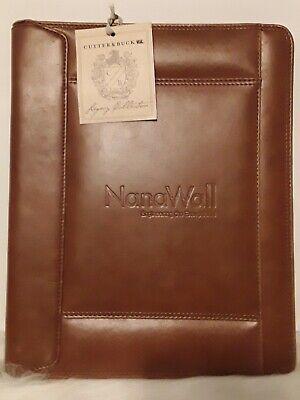 Cutter Buck Legacy Collection Brown Leather Portfolio Business Organizer Zip