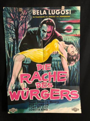 Bride Of The Monster 1956 German Movie Poster Bela Lugosi Ed Wood Plan 9 Dracula