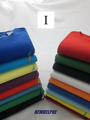 NWT NAUTICA Men's Short Sleeved Logo Crew Neck T-Shirt Tee S M L XL XXL