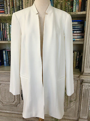 Peace of Cloth Ivory Open Front Coat, Size 12.  NWOT.