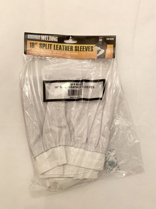 """NIP Chicago Electric Welding 18"""" Split Leather Sleeves 40206 Safety Work New"""