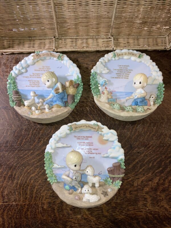 Precious Moments Walking in Faith 3d wall plaques set 3 numbered limited edition