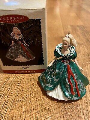 Hallmark Keepsake Ornament Holiday Barbie Collectors Series 1995