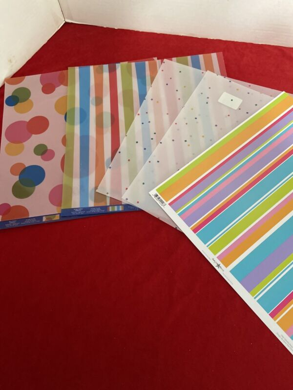 Scrapbook Paper Lot 12 X 12 Vellum Sheets