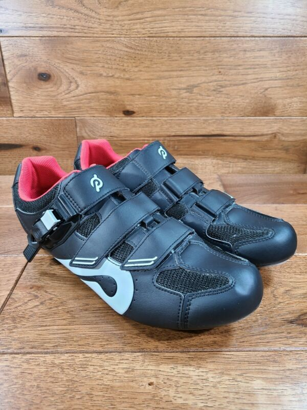 Peloton Black w/ Red Trim Cycling Shoes Size 46 Lightly Used