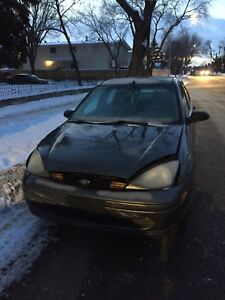 2003 Ford Focus SE Involved in Minor Collision FRONT END DAMAGE