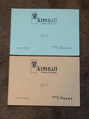 Kimball ELKA EP3 Electronic Organ Schematic Diagram Manual & Parts Catalog E P 3