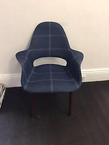 1 x Denim Eames Saarinen Replica Dining Organic Chair Albert Park Port Phillip Preview