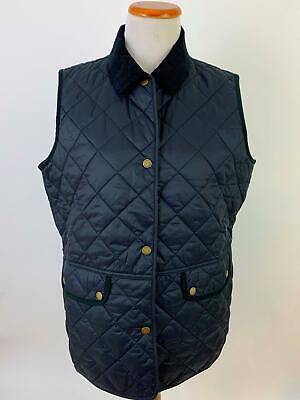 BARBOUR black quilted BRIMHAM GILET Vest Women's US12 NEW