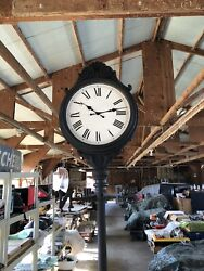 Outdoor/ Indoor Two Sided Lamp Post Clock