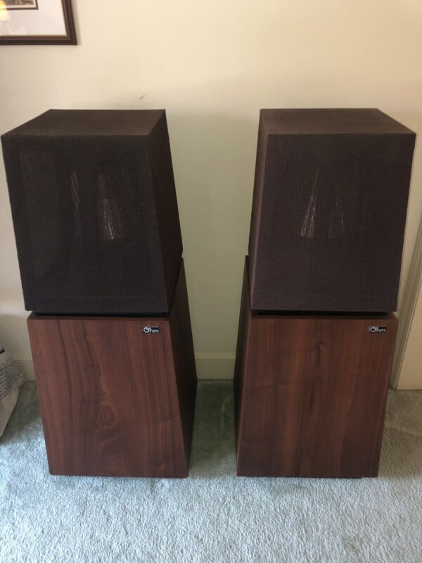 Ohm-Walsh F speakers, excellent restored condition