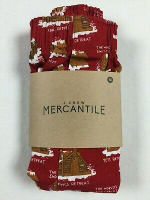 Used, NWT J CREW M Medium Boxer Shorts Cabin Life Print for sale  Shipping to India