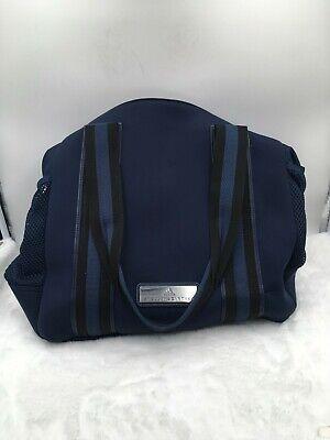 Adidas Stella McCartney Women's Tennis Bag Collegiate Navy Aero Lime Black