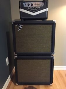 Two 1x12 cabinets. Greenback or vintage 30 speaker.