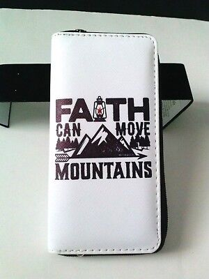Wallet Quote FAITH Can Move Mountains Inspirational Gift Church Christian