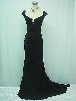 Cherlone Black Long Ballgown Prom Bridesmaid Formal Wedding/Evening Dress 16-18
