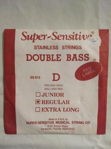 NEW RED LABEL SUPER SENSITIVE DOUBLE BASS Regular STRING D