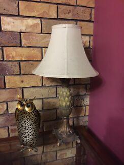 Bedside table lamps pineapple design set of 2