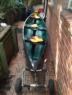 Canoe, Pelican 15.5' with accessories Ashfield Ashfield Area Preview