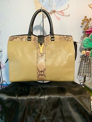 YSL Yves Saint Laurent Leather and Python Cabas ChYc Bag for sale  Canada