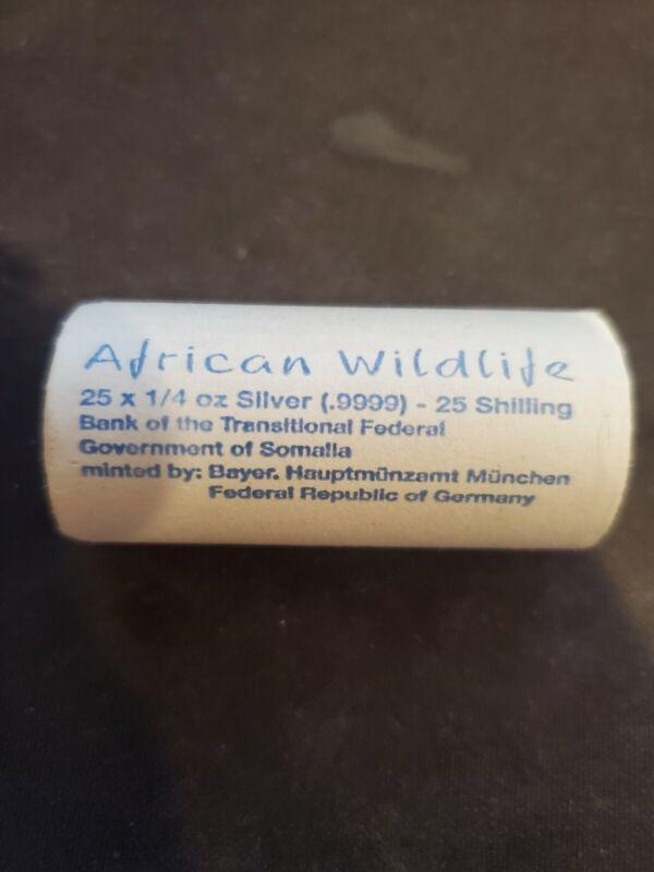 2017 Somalian Elephant Sealed Roll - 25 × 1/4 oz