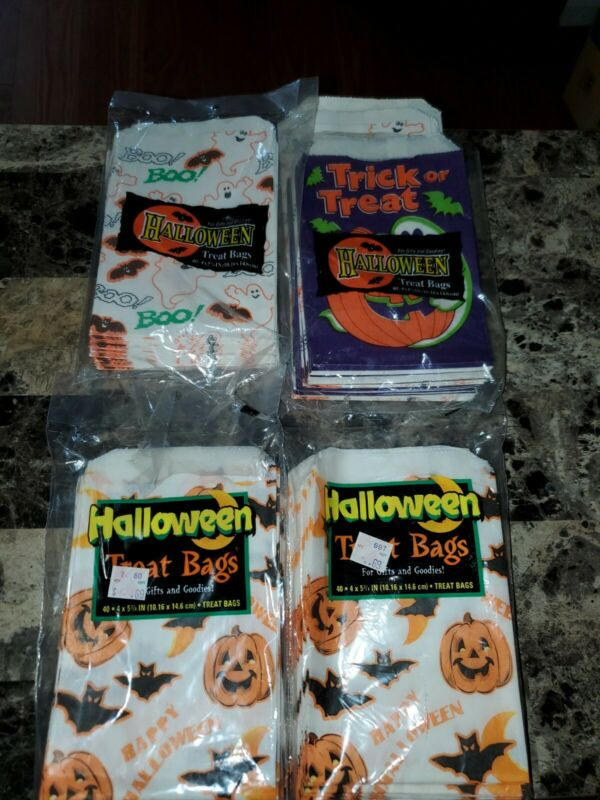 Vintage Lot of 130+ Halloween Paper Trick or Treat Unique Candy Bags 1993