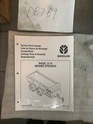 New Holland Model 3110 Manure Spreader Parts Manual Nip