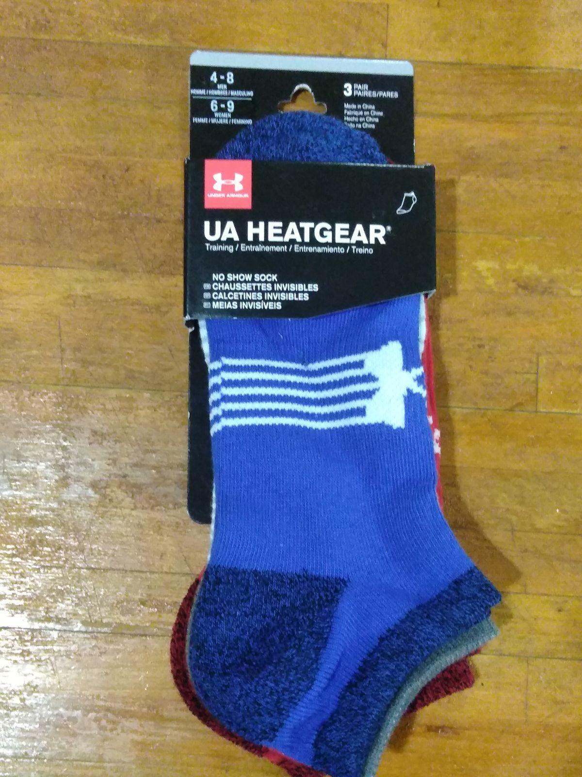 Under Armour Men's HeatGear No Show Socks , Black, Large