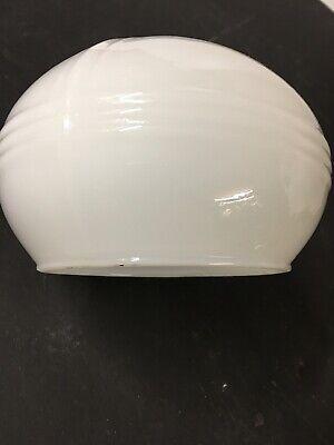 VINTAGE  1930  Milk Opal Glass Light Lamp Shade For Over Medicine Cabinet