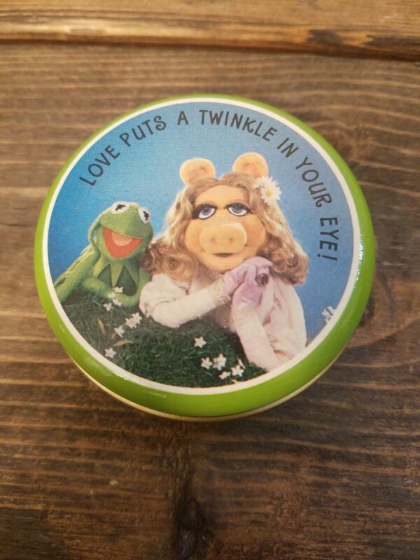 Hallmark Kermit And Miss Piggy Tin Vintage