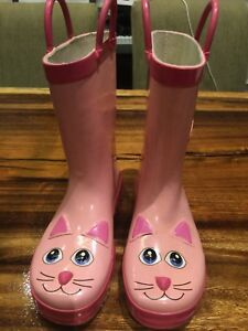 Pink Kitty Rain/Rubber boots by Western Chief Size 1
