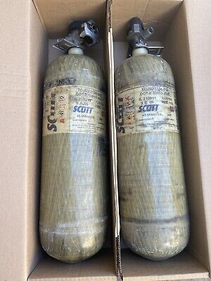 Scott 4.5 Scba 4500psi Carbon Fiber 45 Min 2 Tank Cylinders 0405 Free Shipping