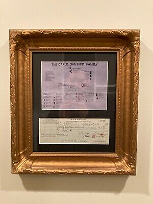 Carlo Gambino Mafia Boss Mobster Autograph Signed Check with Authentication c