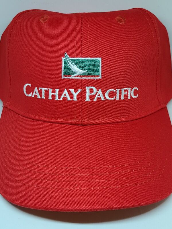 Cathay Pacific Airlines Rare Collectible Logo Sports Cap Hat Red - Brand New