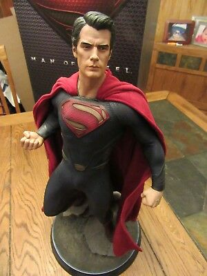 SIDESHOW SUPERMAN MAN OF STEEL PREMIUM FORMAT 1/4 SCALE STATUE  for sale  Andover