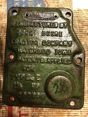 John Deere 1-12 Hp E Hit Miss Engine Governor Cover