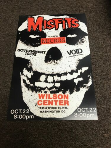 Misfits 1983 Washington DC Cardstock Concert Poster 12x18