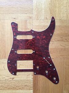 Strat pickguard red tortois new