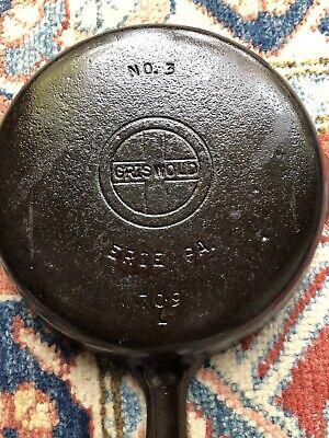 Vintage Griswold No. 3 Cast Iron Skillet Logo 709l 6-1/2