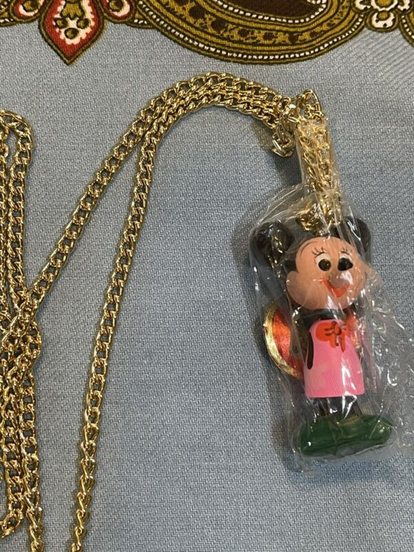 RARE Vintage Never Opened 1960's 70's Mini Mouse Necklace Japan