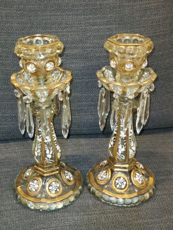 Vintage Baccarat Candelabras ca 1920-1949 EXTREMELY RARE. Made in France.