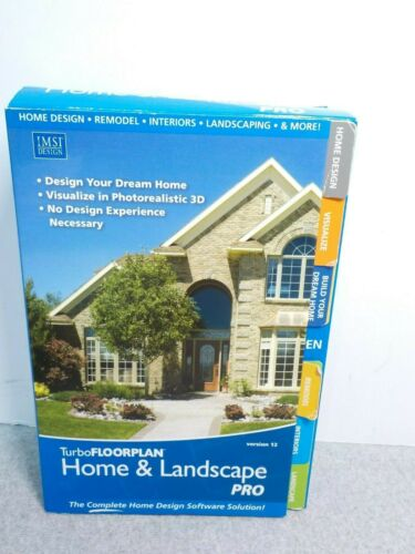 IMST Design Turbo FLOORPLAN Home & Landscape PRO Version 12 Software