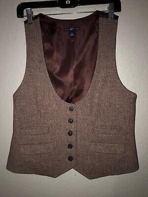 Gray Wool Vest - NWOT Purple Houndstooth Vest size Large L Gray Wool Knit FS