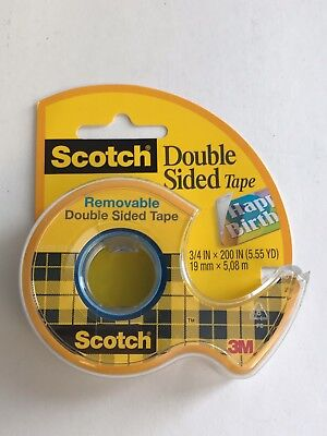 3m 238 Scotch Removable Double Sided Tape 34 In X 200 In 1 Roll