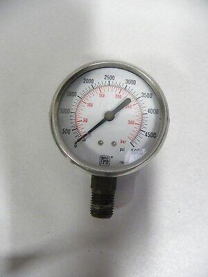 Vtg Industrial Machine Age Steampunk Nuova Fima 0-5000 Pressure Gauge Italya5