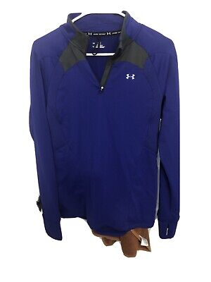 Womans Under Armour Cold Gear Purple jacket shirt beautiful Large Running