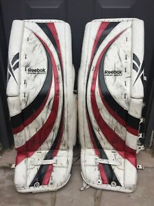 Custom 34+2 rbk premier 3 senior goalie pads